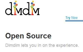 Imagen de la pagina de Dimdim Open Source