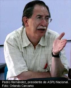 Pedro Hernández, presidente de ASPU Nacional
