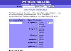 Diccionario WordReference en línea